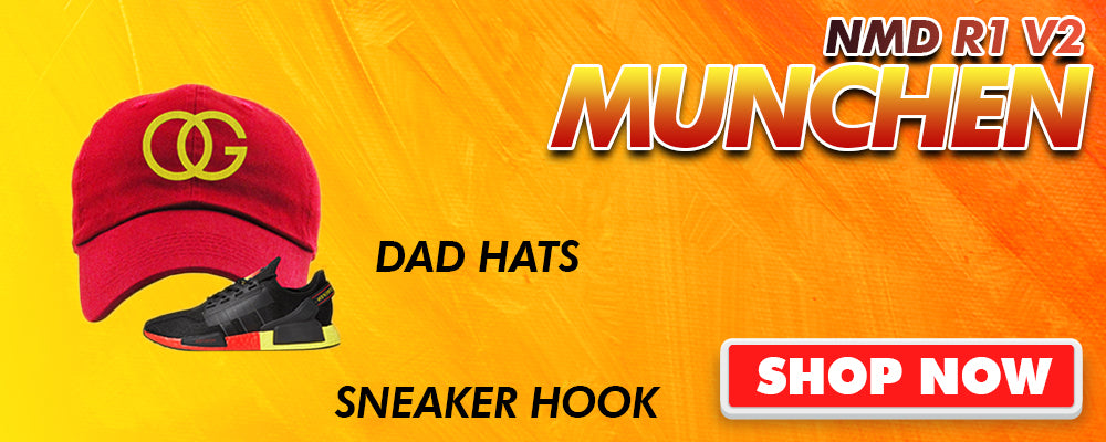 NMD R1 V2 Munchen Dad Hats to match Sneakers | Hats to match Adidas NMD R1 V2 Munchen Shoes
