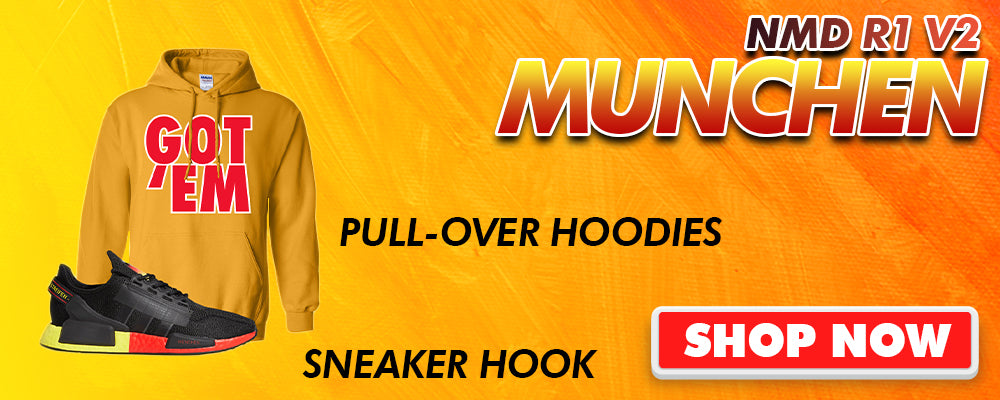 NMD R1 V2 Munchen Pullover Hoodies to match Sneakers | Hoodies to match Adidas NMD R1 V2 Munchen Shoes