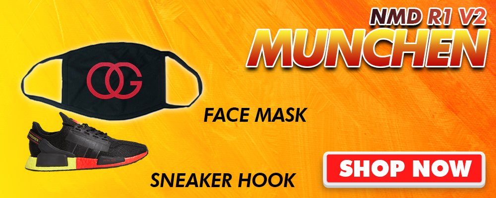 NMD R1 V2 Munchen Face Mask to match Sneakers | Masks to match Adidas NMD R1 V2 Munchen Shoes