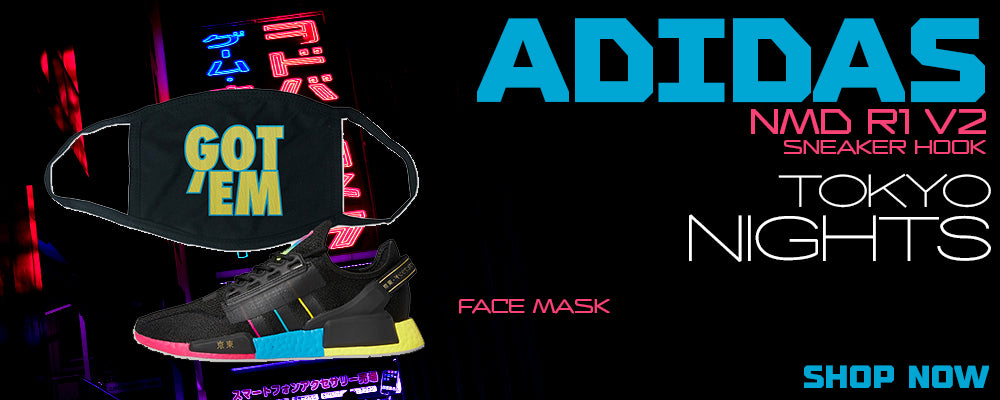 NMD R1 V2 Tokyo Nights Face Mask to match Sneakers   Masks to match Adidas NMD R1 V2 Tokyo Nights Shoes