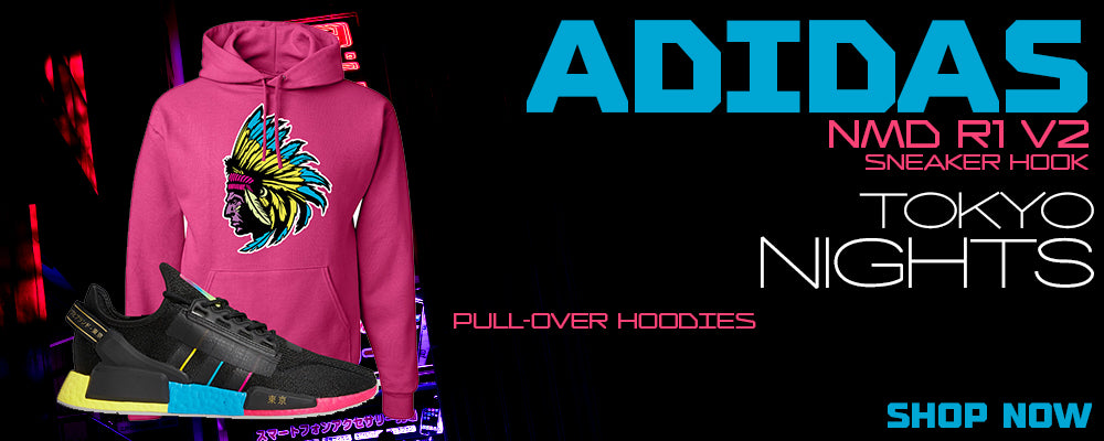NMD R1 V2 Tokyo Nights Pullover Hoodies to match Sneakers   Hoodies to match Adidas NMD R1 V2 Tokyo Nights Shoes