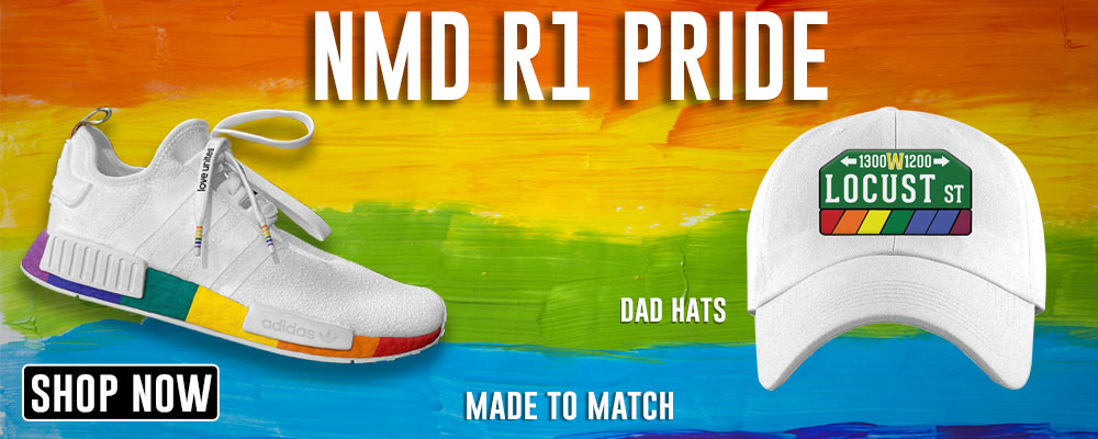 NMD R1 Pride Dad Hats to match Sneakers | Hats to match Adidas NMD R1 Pride Shoes