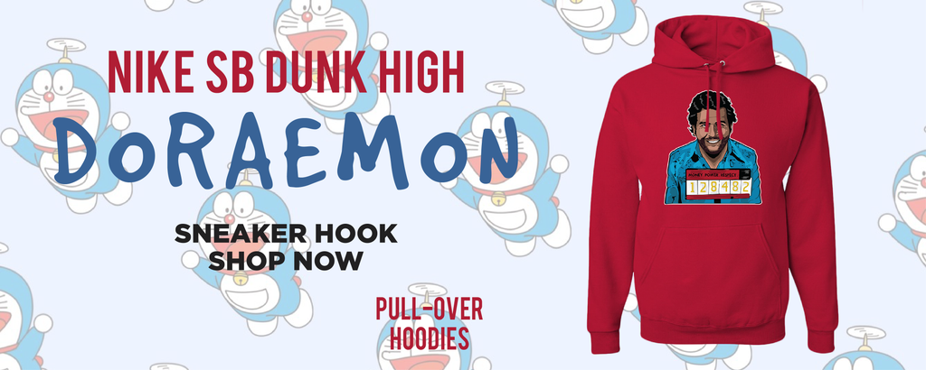 SB Dunk High Doraemon Pullover Hoodies to match Sneakers | Hoodies to match Nike SB Dunk High Doraemon Shoes