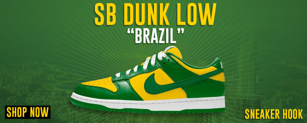 SB Dunk Low Brazil Clothing to match Sneakers | Clothing to match Nike SB Dunk Low Brazil Shoes
