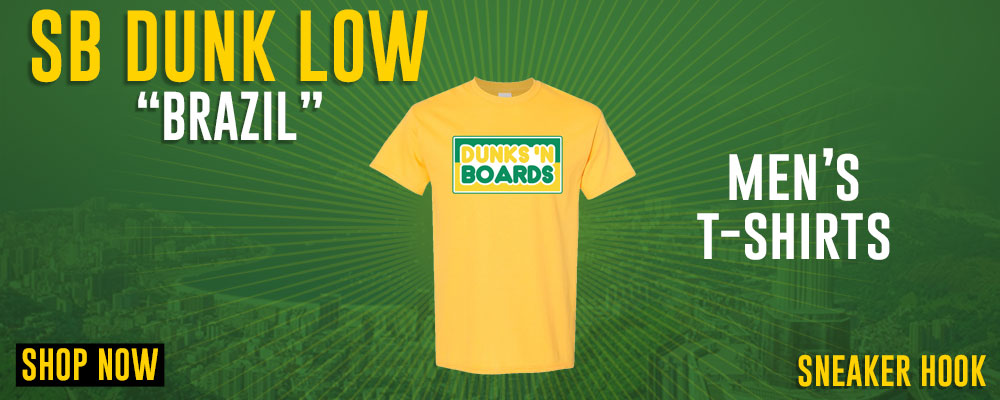 SB Dunk Low Brazil T Shirts to match Sneakers | Tees to match Nike SB Dunk Low Brazil Shoes