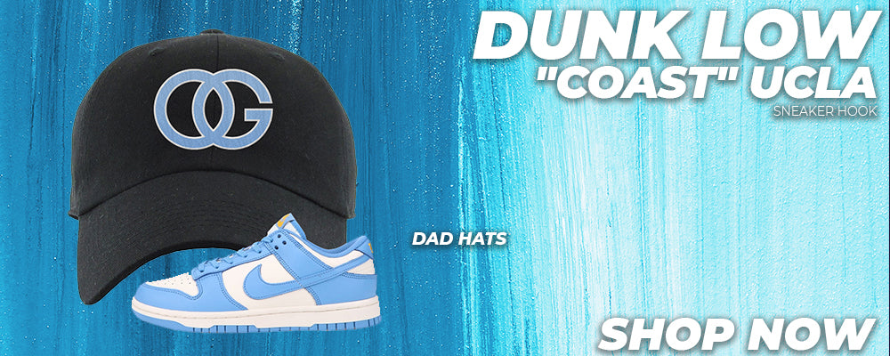 Dunk Low 'Coast' UCLA Dad Hats to match Sneakers | Hats to match Nike Dunk Low 'Coast' UCLA Shoes