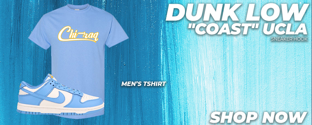 Dunk Low 'Coast' UCLA T Shirts to match Sneakers | Tees to match Nike Dunk Low 'Coast' UCLA Shoes