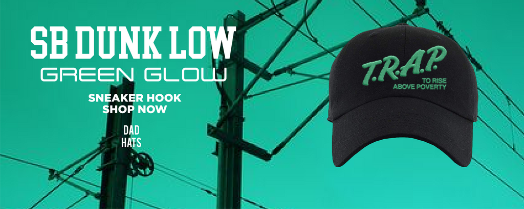 SB Dunk Low Green Glow Dad Hats to match Sneakers | Hats to match Nike SB Dunk Low Green Glow Shoes