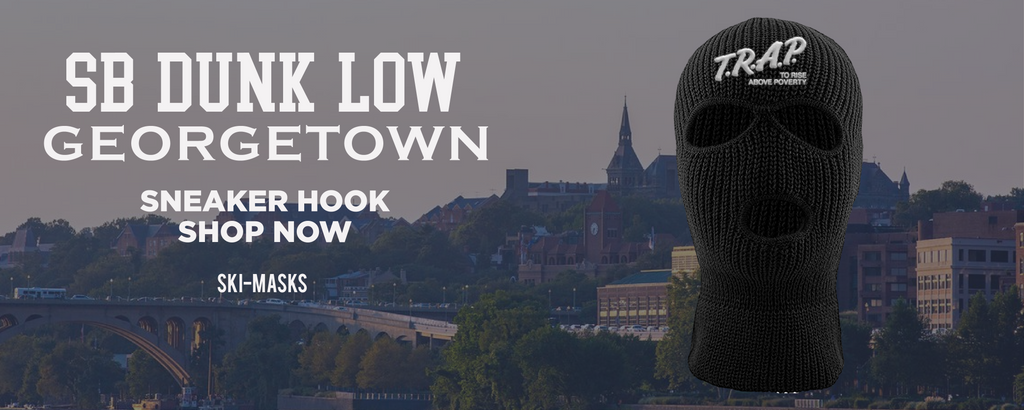 SB Dunk Low Georgetown Ski Masks to match Sneakers | Winter Masks to match Nike SB Dunk Low Georgetown Shoes