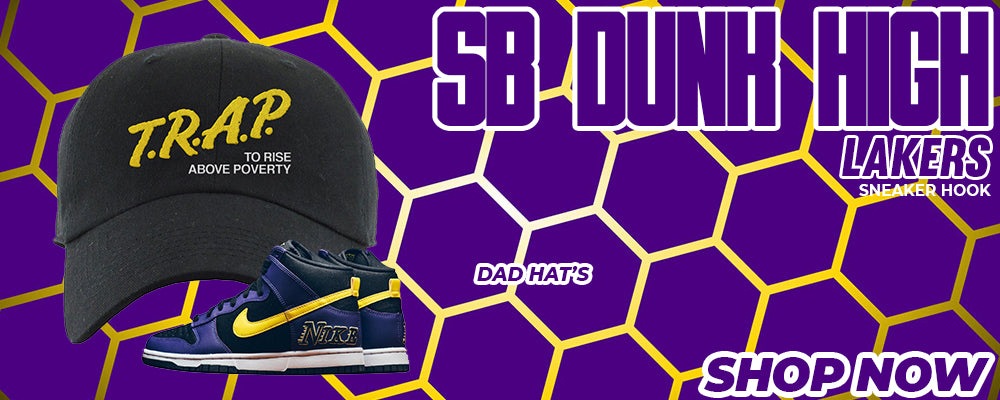 SB Dunk High Lakers Dad Hats to match Sneakers | Hats to match Nike SB Dunk High Lakers Shoes