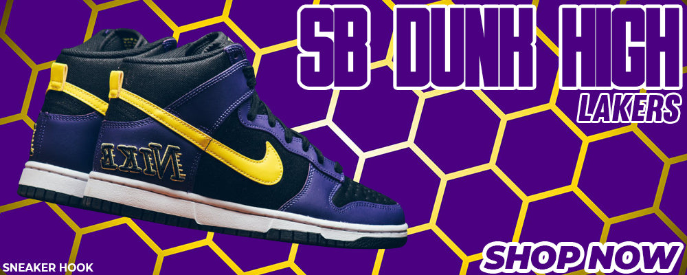 SB Dunk High Lakers Clothing to match Sneakers | Clothing to match Nike SB Dunk High Lakers Shoes