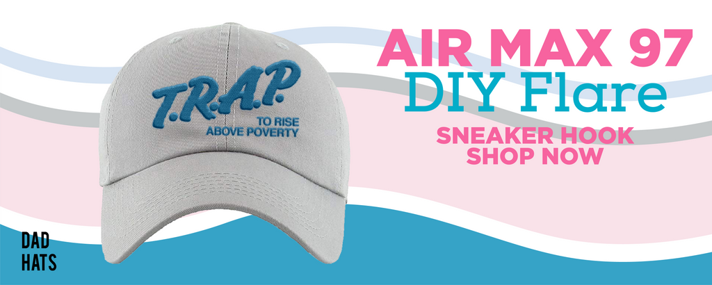 Air Max 97 DIY Flare Dad Hats to match Sneakers | Hats to match Nike Air Max 97 DIY Flare Shoes
