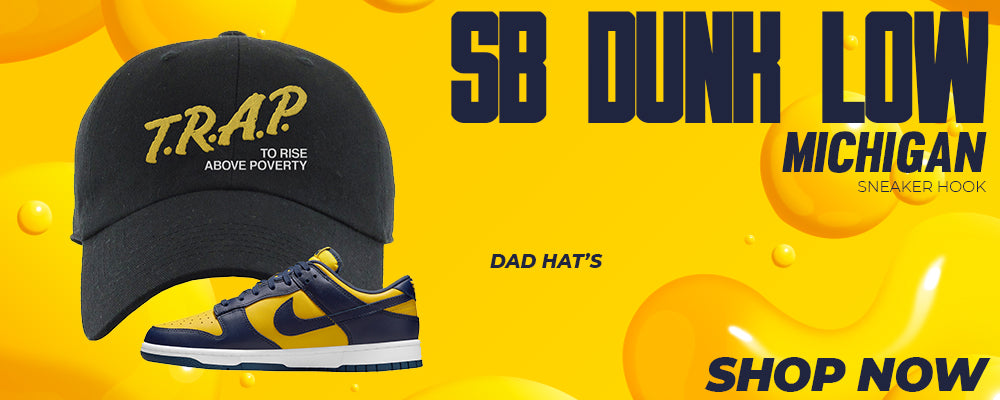 SB Dunk Low Michigan Dad Hats to match Sneakers | Hats to match Nike SB Dunk Low Michigan Shoes