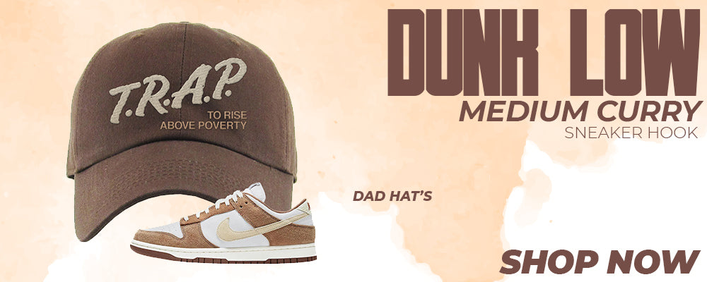 Dunk Low Medium Curry Dad Hats to match Sneakers | Hats to match Nike Dunk Low Medium Curry Shoes