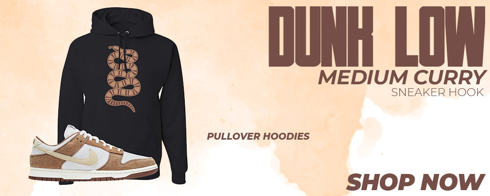 Dunk Low Medium Curry Pullover Hoodies to match Sneakers | Hoodies to match Nike Dunk Low Medium Curry Shoes