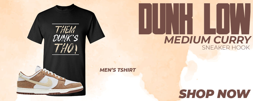 Dunk Low Medium Curry T Shirts to match Sneakers | Tees to match Nike Dunk Low Medium Curry Shoes