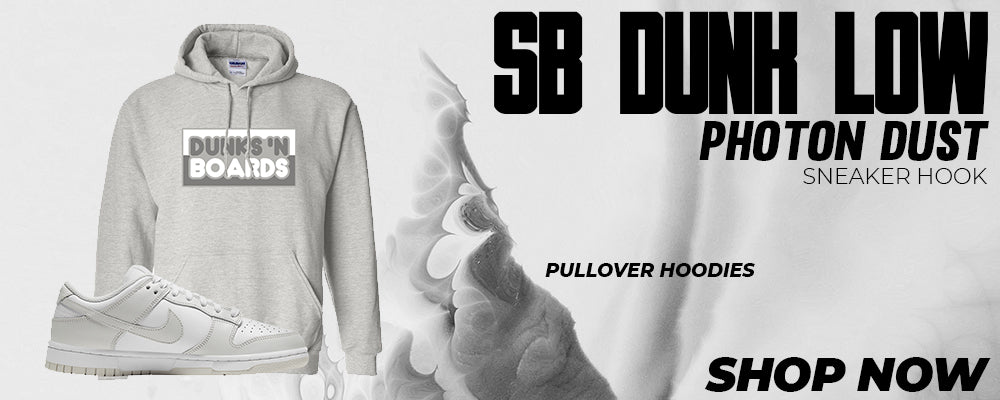 SB Dunk Low Photon Dust Pullover Hoodies to match Sneakers | Hoodies to match Nike SB Dunk Low Photon Dust Shoes