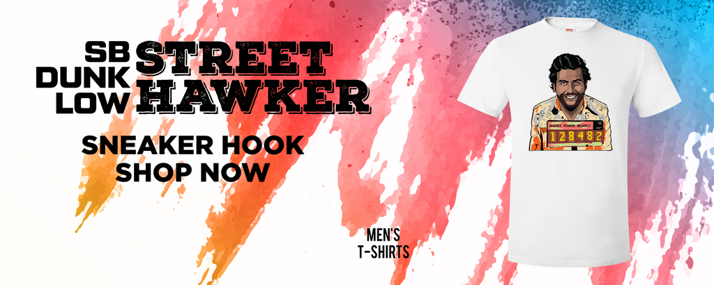 SB Dunk Low Street Hawker T Shirts to match Sneakers | Tees to match Nike SB Dunk Low Street Hawker Shoes