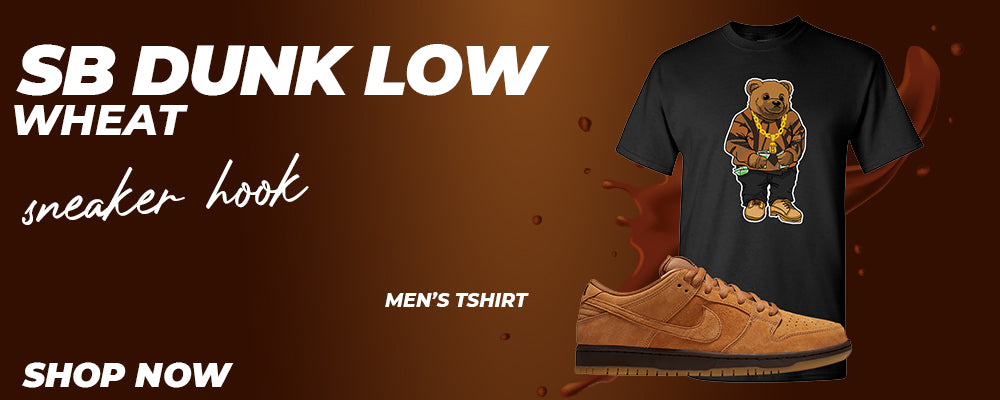 SB Dunk Low Wheat T Shirts to match Sneakers   Tees to match Nike SB Dunk Low Wheat Shoes