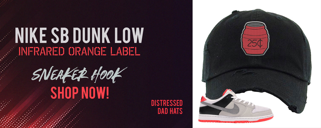 SB Dunk Low Infrared Orange | Distressed dad hats to match sneakers