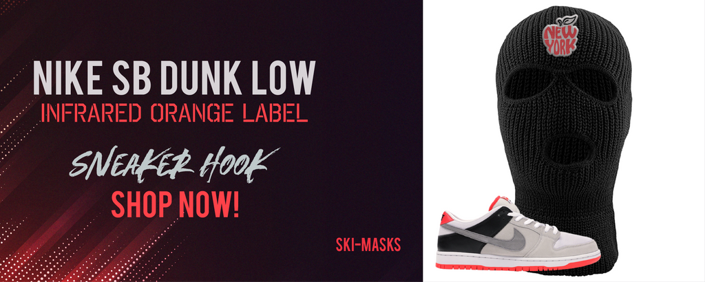 Nike SB Dunk Low Infrared Orange label | Ski masks to match sneakers