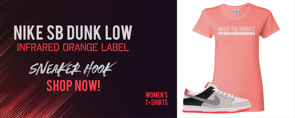 Nike SB Dunk Low Infrared Orange | Women's t-shirts to match sneakers