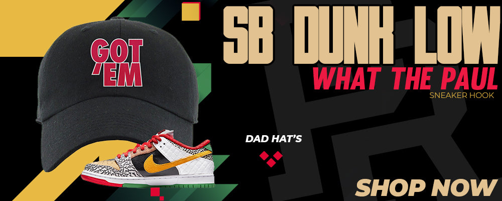 SB Dunk Low 'What The Paul' Dad Hats to match Sneakers | Hats to match Nike SB Dunk Low 'What The Paul' Shoes