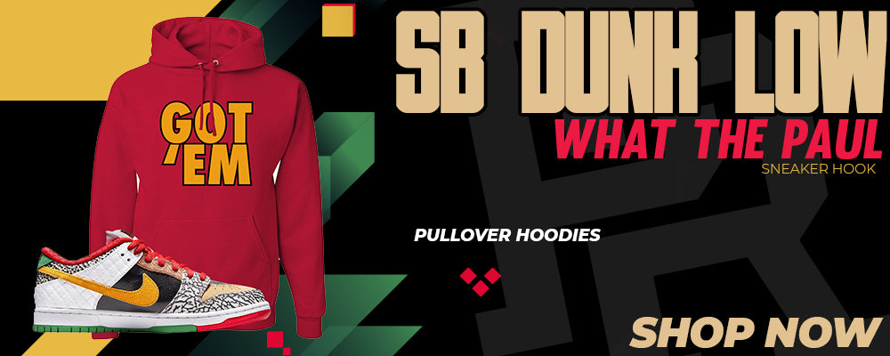SB Dunk Low 'What The Paul' Pullover Hoodies to match Sneakers | Hoodies to match Nike SB Dunk Low 'What The Paul' Shoes
