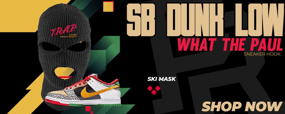 SB Dunk Low 'What The Paul' Ski Masks to match Sneakers | Winter Masks to match Nike SB Dunk Low 'What The Paul' Shoes