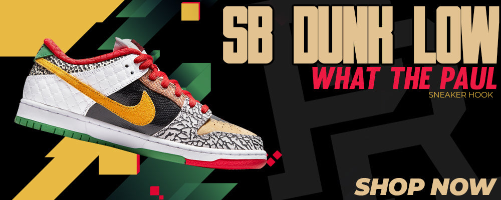 SB Dunk Low 'What The Paul' Clothing to match Sneakers | Clothing to match Nike SB Dunk Low 'What The Paul' Shoes