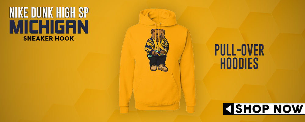 Dunk High SP Michigan Pullover Hoodies to match Sneakers | Hoodies to match Nike Dunk High SP Michigan Shoes