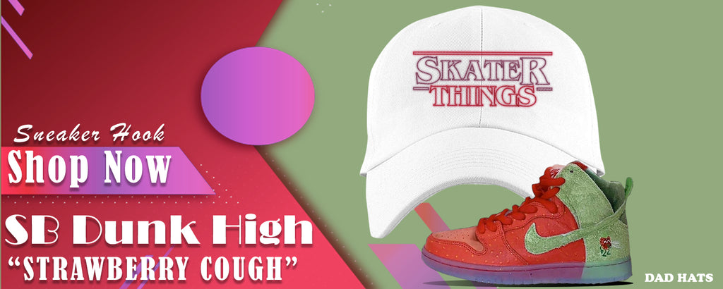 SB Dunk High Strawberry Cough Dad Hats to match Sneakers | Hats to match  Nike SB Dunk High Strawberry Cough Shoes