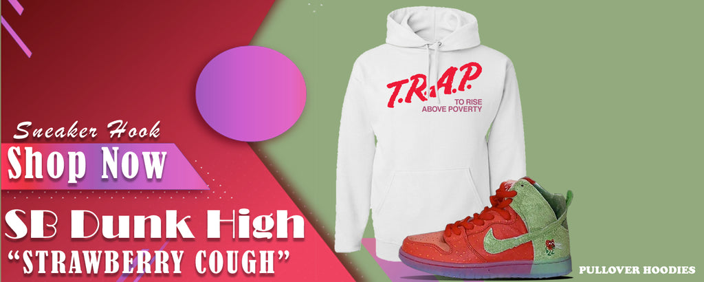 SB Dunk High Strawberry Cough Pullover Hoodies to match Sneakers | Hoodies to match  Nike SB Dunk High Strawberry Cough Shoes