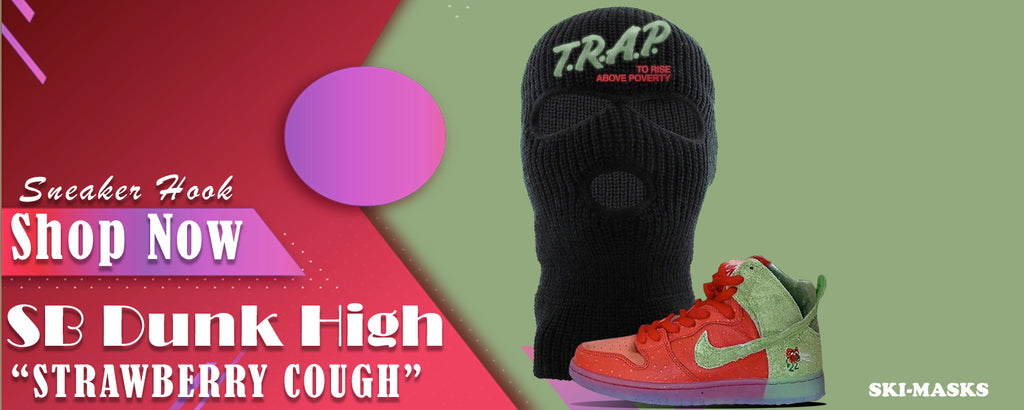 SB Dunk High Strawberry Cough Ski Masks to match Sneakers | Winter Masks to match  Nike SB Dunk High Strawberry Cough Shoes