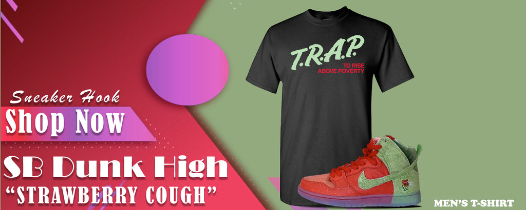 SB Dunk High Strawberry Cough T Shirts to match Sneakers | Tees to match  Nike SB Dunk High Strawberry Cough Shoes