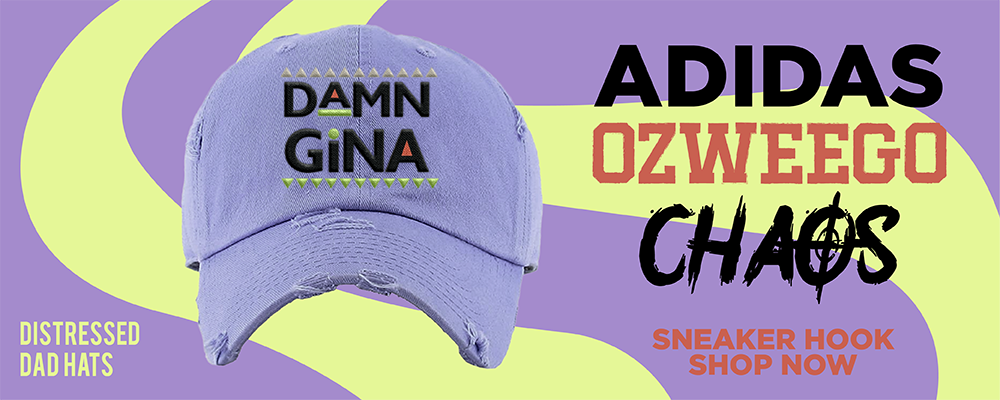 Ozweego Chaos Distressed Dad Hats to match Sneakers | Hats to match Adidas Ozweego Chaos Shoes