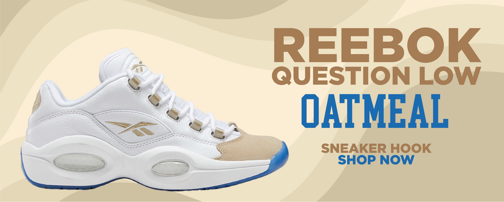 Question Low Oatmeal Clothing to match Sneakers | Clothing to match  Reebok Question Low Oatmeal Shoes