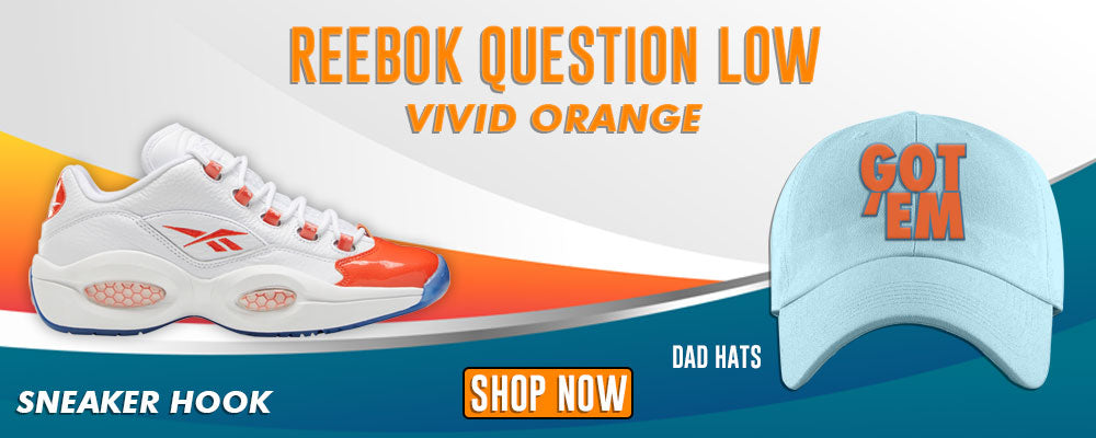 Question Low Vivid Orange Dad Hats to match Sneakers | Hats to match Reebok Question Low Vivid Orange Shoes