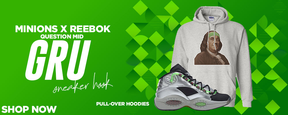Minions x Question Mid Gru Pullover Hoodies to match Sneakers   Hoodies to match Minions x Reebok Question Mid Gru Shoes