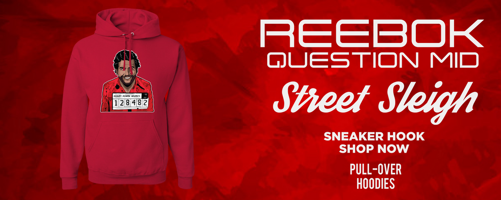 Question Mid Street Sleigh Pullover Hoodies to match Sneakers | Hoodies to match Reebok Question Mid Street Sleigh Shoes