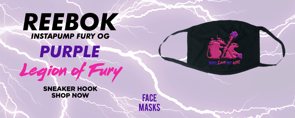 Instapump Fury OG Purple Legion of Fury Face Mask to match Sneakers | Masks to match Reebok Instapump Fury OG Purple Legion of Fury Shoes