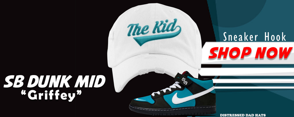 SB Dunk Mid 'Griffey' Distressed Dad Hats to match Sneakers | Hats to match Nike SB Dunk Mid 'Griffey' Shoes