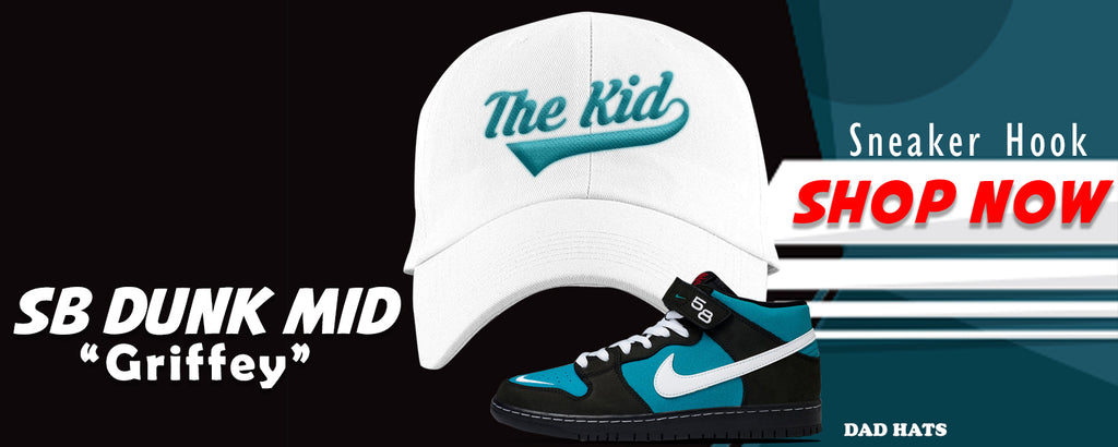 SB Dunk Mid 'Griffey' Dad Hats to match Sneakers | Hats to match Nike SB Dunk Mid 'Griffey' Shoes
