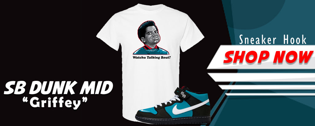 SB Dunk Mid 'Griffey' T Shirts to match Sneakers | Tees to match Nike SB Dunk Mid 'Griffey' Shoes