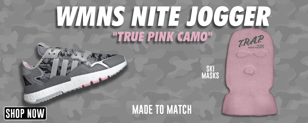 WMNS Nite Jogger True Pink Camo Ski Masks to match Sneakers | Winter Masks to match Adidas WMNS Nite Jogger True Pink Camo Shoes