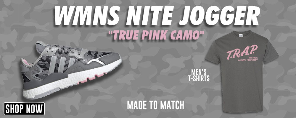 WMNS Nite Jogger True Pink Camo T Shirts to match Sneakers | Tees to match Adidas WMNS Nite Jogger True Pink Camo Shoes