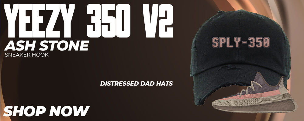 Yeezy 350 v2 Ash Stone Distressed Dad Hats to match Sneakers | Hats to match Adidas Yeezy 350 v2 Ash Stone Shoes