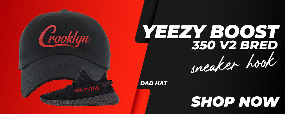 Yeezy 350 Boost V2 Bred Dad Hats to match Sneakers | Hats to match Adidas Yeezy 350 Boost V2 Bred Shoes