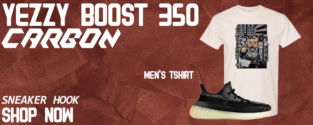 Yeezy Boost 350 v2 Carbon T Shirts to match Sneakers | Tees to match Adidas Yeezy Boost 350 v2 Carbon Shoes