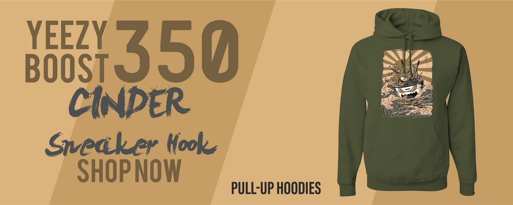 Yeezy Boost 350 V2 Cinder Pullover Hoodies to match Sneakers | Hoodies to match Yeezy Boost 350 V2 Cinder Shoes